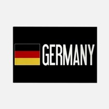 Germany: Germany & Ger Rectangle Magnet (100 pack)