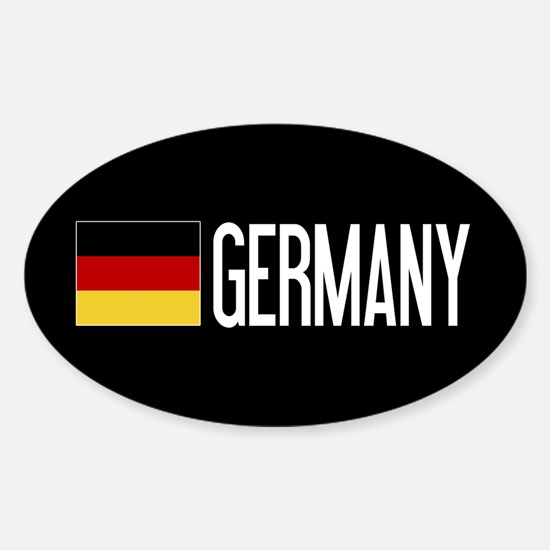 Germany: Germany & German Flag Sticker (Oval)