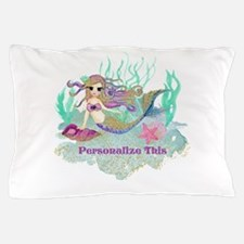 Cute Personalized Mermaid Pillow Case