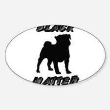 BLACK PUGS MATTER Decal