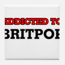 Addicted to Britpop Tile Coaster