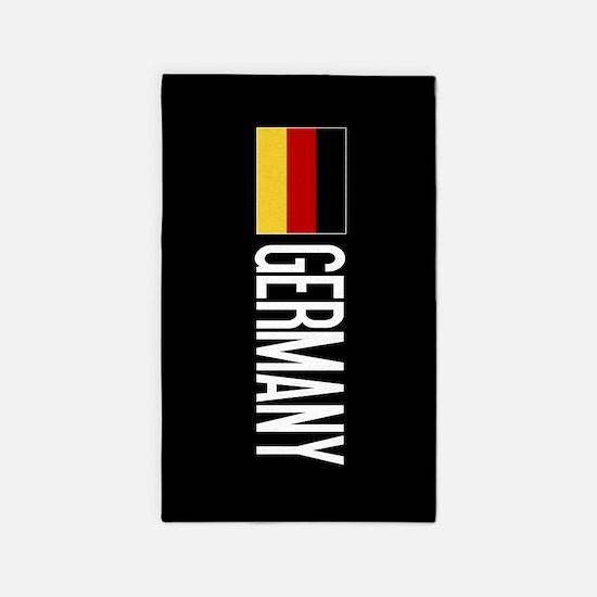 Germany: Germany & German Flag Area Rug