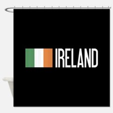 Ireland: Irish Flag & Ireland Shower Curtain