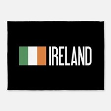 Ireland: Irish Flag & Ireland 5'x7'Area Rug