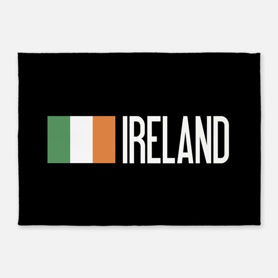Ireland: Irish Flag & Ireland 5'x7'Area Rug