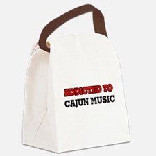 Addicted to Cajun Music Canvas Lunch Bag