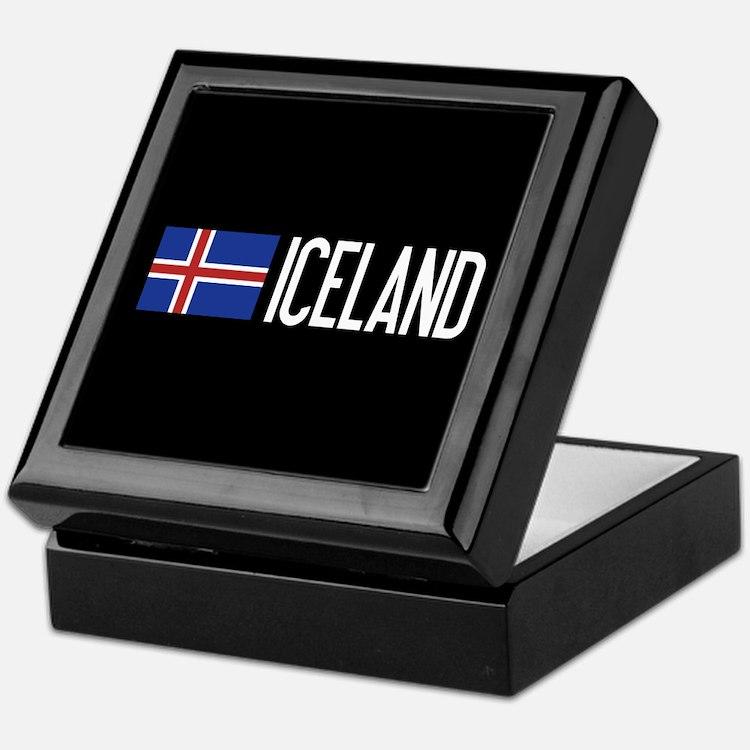 Iceland: Icelandic Flag & Iceland Keepsake Box
