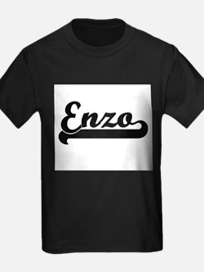 Enzo Classic Retro Name Design T-Shirt