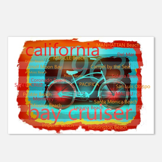 CALIFORNIA BAY CRUISER Be Postcards (Package of 8)