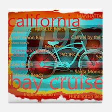 CALIFORNIA BAY CRUISER Beach Cities Tile Coaster