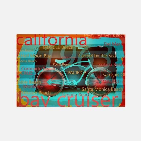 CALIFORNIA BAY CRUISER Beach Cities Magnets