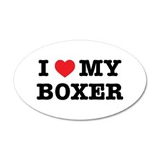I Heart My Boxer Sticker Wall Decal