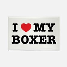 I Heart My Boxer Magnets