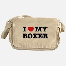 I Heart My Boxer Messenger Bag