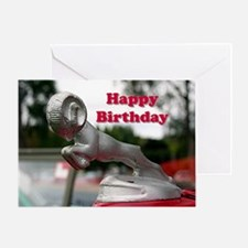 Cute Car bonnet Greeting Card