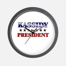 KASSIDY for president Wall Clock