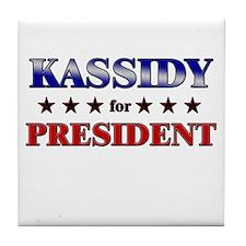 KASSIDY for president Tile Coaster