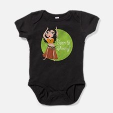Unique Woman dancing Baby Bodysuit
