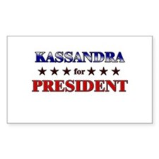 KASSANDRA for president Rectangle Decal
