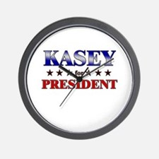 KASEY for president Wall Clock
