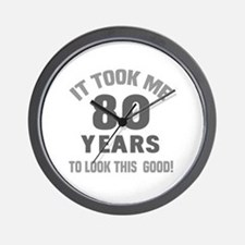Funny 80 year olds Wall Clock