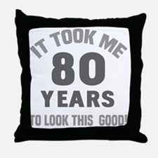 Funny 80 year olds Throw Pillow