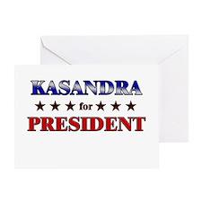 KASANDRA for president Greeting Card