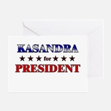 KASANDRA for president Greeting Card