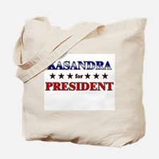 KASANDRA for president Tote Bag