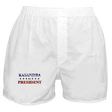 KASANDRA for president Boxer Shorts