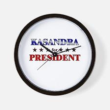 KASANDRA for president Wall Clock