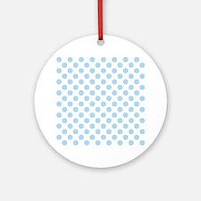 Light Blue Polka Dots Round Ornament