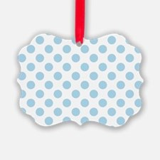Light Blue Polka Dots Ornament
