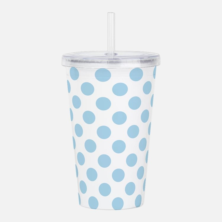 Light Blue Polka Dots Acrylic Double-wall Tumbler