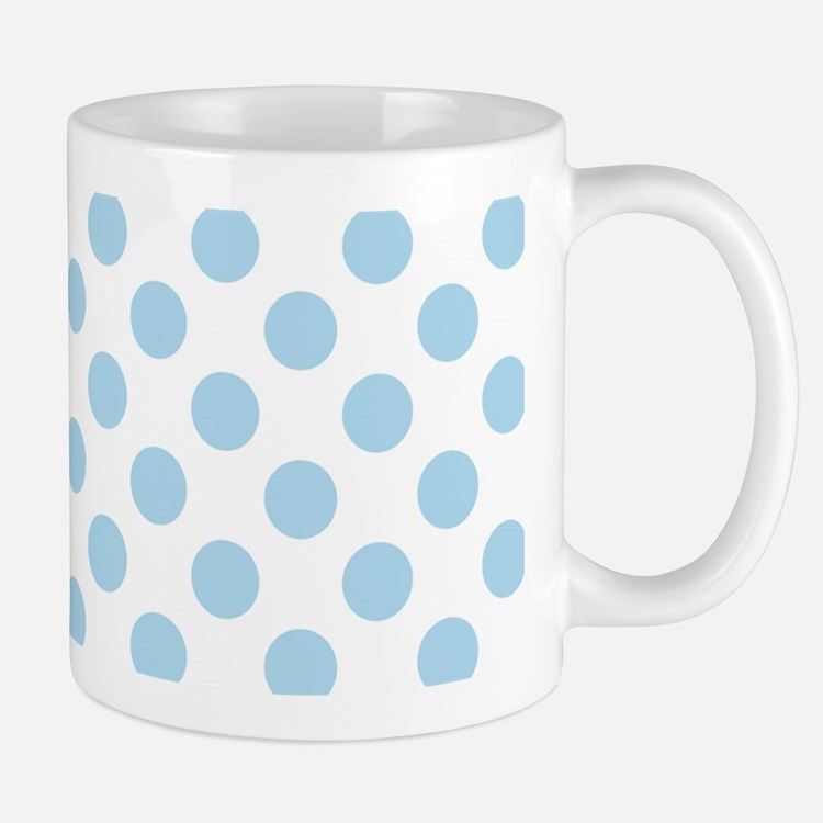 Light Blue Polka Dots Mugs