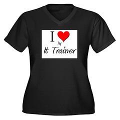 I Love My It Trainer Women's Plus Size V-Neck Dark