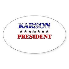 KARSON for president Oval Decal