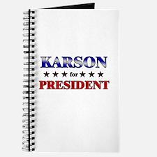 KARSON for president Journal