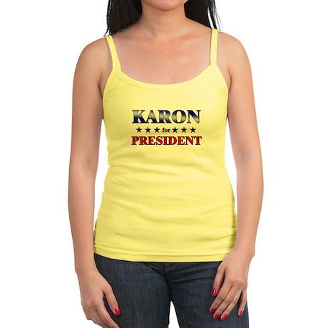 KARON for president Jr. Spaghetti Tank