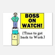 BOSS ON WATCH GET BACK TO WOR Postcards (Package o