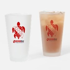 Turtle Dive Flag Drinking Glass