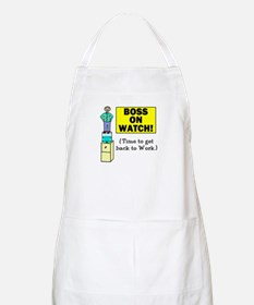 BOSS ON WATCH GET BACK TO WOR BBQ Apron