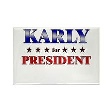 KARLY for president Rectangle Magnet