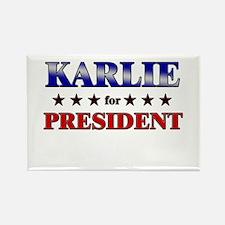 KARLIE for president Rectangle Magnet