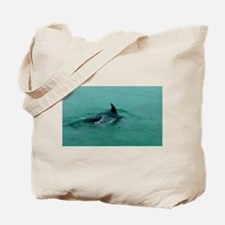 Natural Mother Dolphin and Baby Tote Bag