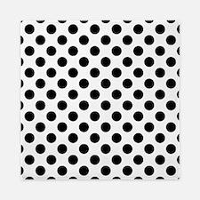 Black Polka Dot Print Pattern Queen Duvet