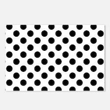 Black Polka Dot Print Pat Postcards (Package of 8)