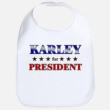 KARLEY for president Bib
