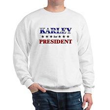 KARLEY for president Sweater