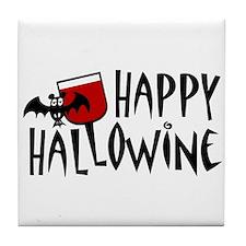 Happy Hallowine Tile Coaster